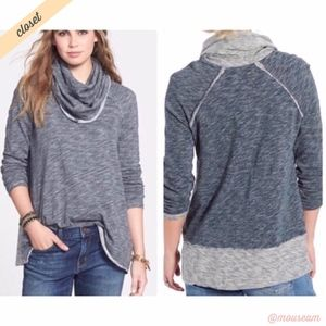 [FP Beach] Gray Cocoon Cowl Neck Pullover Sweater